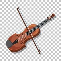 Classic violin isolated on transparent background