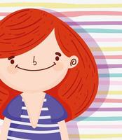 Little girl on a stripped background vector