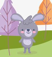 Cute little rabbit outdoors vector