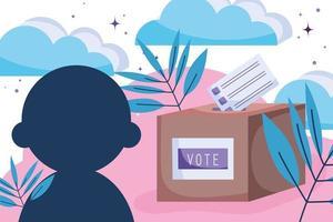 campaña política para las elecciones