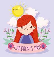 Happy Children's day celebration vector