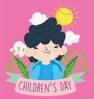 feliz celebración del día del niño vector