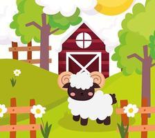 Cute farm goat vector