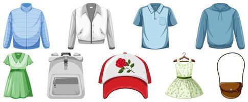 Set of clothes mock up vector
