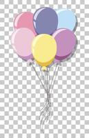 Pastel balloons isolated on transparent background vector