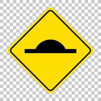 Speed bump traffic sign isolated on transparent background