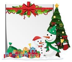 plantilla de marco de navidad en blanco