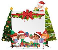 marco en blanco feliz navidad