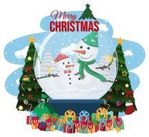 Merry Christmas crystal ball