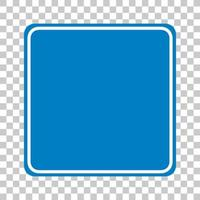 señal de tráfico azul sobre fondo transparente vector