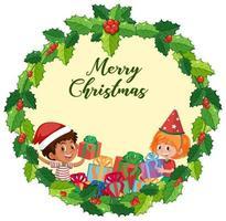 plantilla de tarjeta de feliz navidad en blanco vector