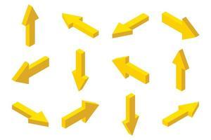 Isometric arrows set vector