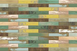 Vintage wooden parquet background with old faded colors vector