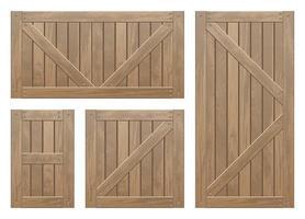 Set of wooden crates vector