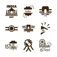 India Independence Day icon set