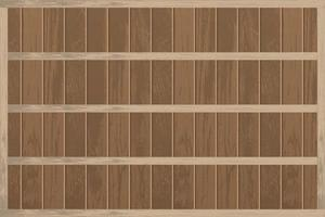 Realistic empty wooden shelves