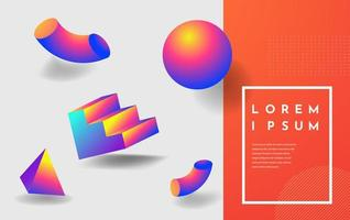 Abstract colorful gradient design with geometric elements vector