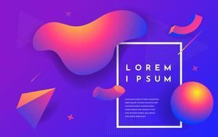 Fluid gradient shapes composition