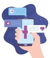 atención médica en línea a través de un teléfono inteligente