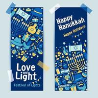 bandera judía de hanukkah