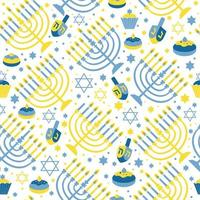 Happy Hanukkah print Background with Menorah vector