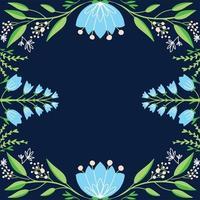 fondo floral dibujado a mano vector
