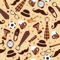 Seamless pattern of Fathers day vector