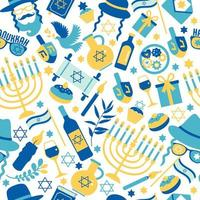 Jewish holiday Hanukkah seamless pattern