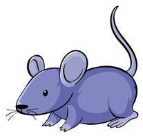 ratón morado sobre fondo blanco vector