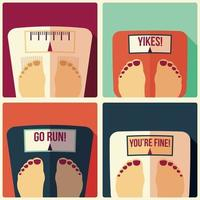 Collection of four bathroom weight scales