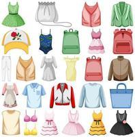 Set of fashion outfits