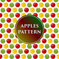 Tropical colorful juicy apples pattern