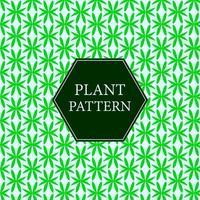 Flat green plant pattern vector