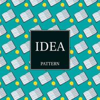 Pattern of light bulbs and books
