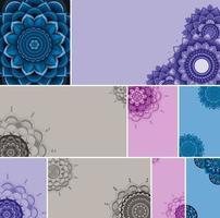 Beautiful color mandala background set