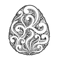 Easter egg made of swirls and floral elements
