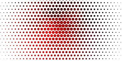 Red pattern with spheres.