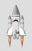 Rocket launching on transparent background