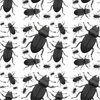 Beetle seamless background