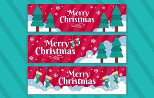 Fun Banner of Snow Christmas vector