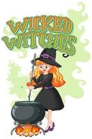 Wicked witches design vector