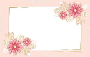Floral Background with Gold Details vector