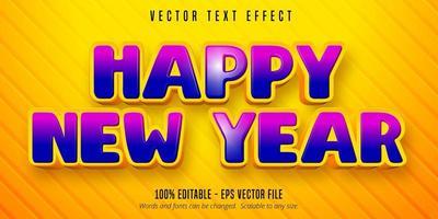 feliz año nuevo texto vector