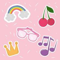 Cute kawaii sticker set