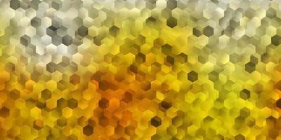 fondo naranja con formas hexagonales. vector