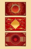 Red and Gold Decorative Chinese New Year Templates