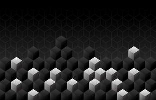 Black Background with Cubes vector