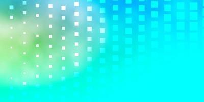 telón de fondo azul y verde con cuadrados.