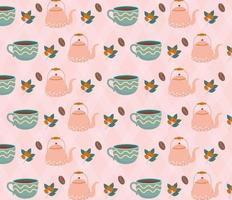 Coffee time pattern background