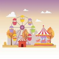 Fun fair, carnival, and entertainment recreation composition